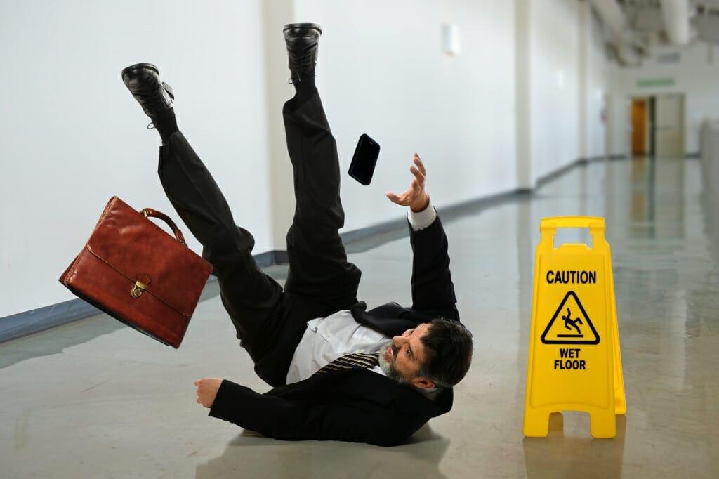 Man Slip and Fall