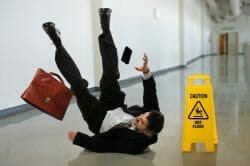 Man Slip and Fall